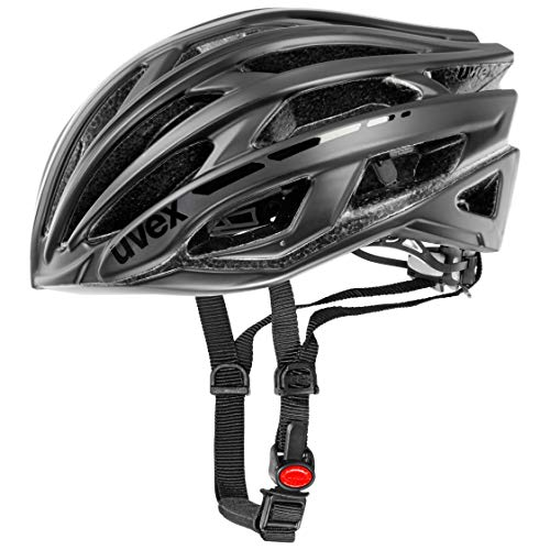 Uvex Unisex– Erwachsene, race 5 classic Fahrradhelm, black, 58-61 cm
