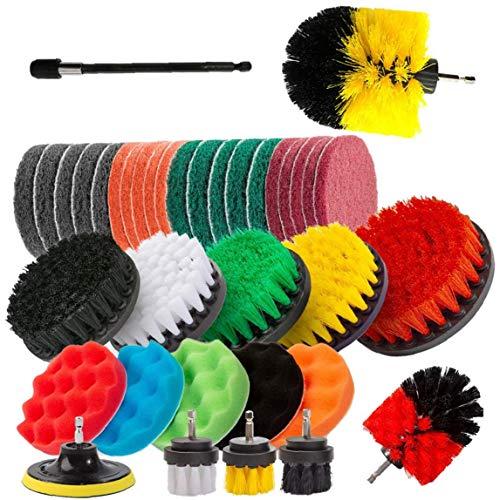 Conjuntos de perforar Cepillos, 37pcs cepillo eléctrico Taladro depurador del equipo con...