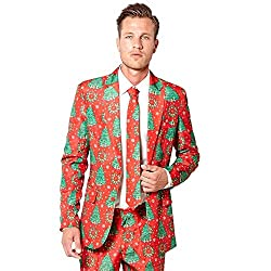 Ugly Christmas Suit is Perfect for The Office. Ugly Christmas Sweater Ideas for Work
