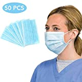 Caxinthy 50 PCS Disposable 3-Ply NON-WOVEN with Earloop Polypropylene