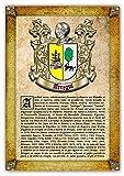 Historia y Origen del Apellido Arregui | Lámina Impresa en Alta resolución + Certificado de Garantía + Plantilla Árbol Familiar de 6 Generaciones