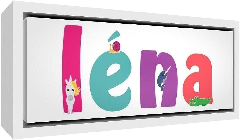 punto de venta barato Little Helper lienzo con marco de madera madera madera maciza Color blancoo estilo illustratif pintado con el nombre de joven Léna 25x 63x 3cm) medio  mejor reputación