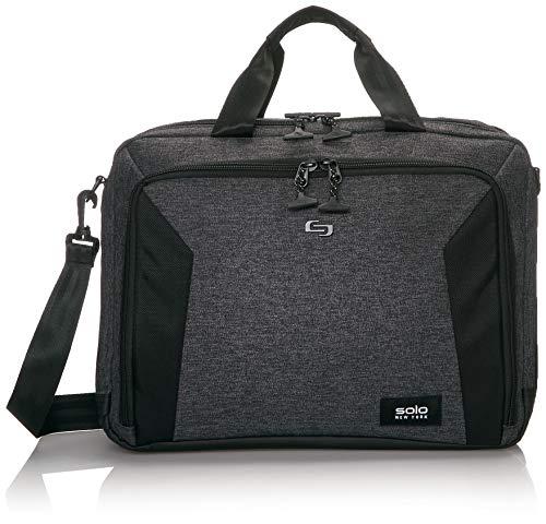 Solo New York Voyage Laptop Briefcase, Grey/Black