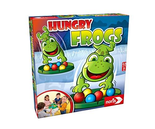 Noris 606061859 - Hungry Frogs, das lustige Fang-und Schnapp Spiel für Groß und Klein, für Kinder ab 4 Jahren