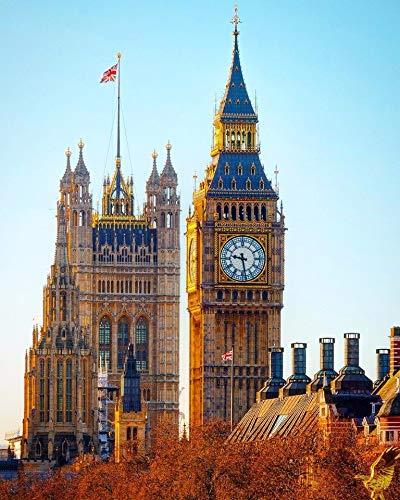 Puzzle 1000 piezas Famoso reloj antiguo Big Ben en Londres, Reino Unido Picture Art Gifts puzzle 1000 piezas animales educativo divertido juego familiar para niños adultos Rom50x75cm(20x30inch)