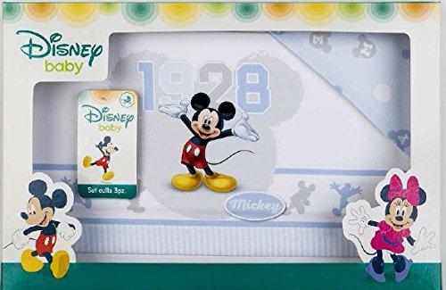 Draps pour berceau landau Disney Mickey bleu ciel