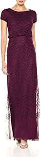 Women's Short Sleeve Blouson Beaded Gown