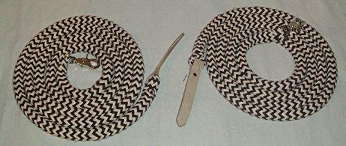 Westernzügel Split Reins, extra schwer, geteilt schwarz-blackberry-natur 2x2,20 mtr