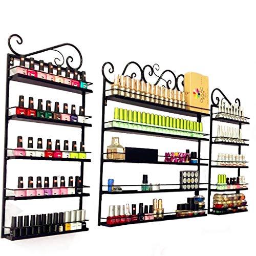 Abodos Nail Polish Shelf cosmétiques Display Stand détient 50 Bouteilles de Huile Essentielle, Nail Polish Support de Stockage Organisateur Display Stand (Noir),Threepiecesuit