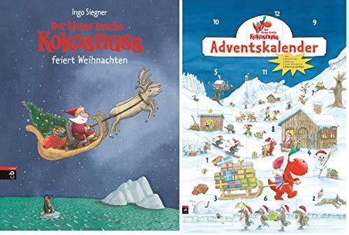 Der kleine Drache Kokosnuss Weihnachts-Set: Buch