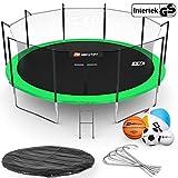 Hop-Sport Trampoline rond 244, 305, 366, 430, 490 cm trampoline de jardin avec filet de sécurité intérieur; échellle; bâche de protection (490 cm)