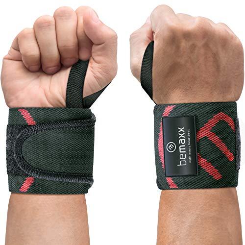 Handgelenk Bandagen Fitness Krafttraining - 2x Wrist Wraps Handgelenkbandagen Handgelenkstütze für schwere Gewichte Bodybuilding Hanteln | Handgelenkschoner Frauen Männer Crossfit Kraftsport Sport