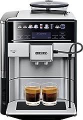 Siemens EQ.6 plus s700 VOLLEDIG automatische koffiezetapparaat TE657503DE, automatische reiniging, direct bellen, twee kopjes tegelijk, 1.500 watt, roestvrij staal*