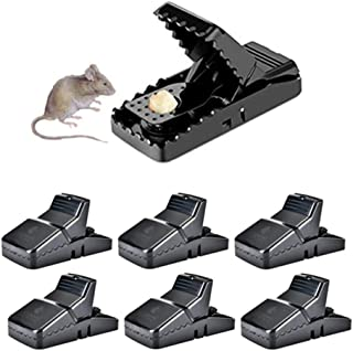 HARCCI Effective Rat Traps - Ultimate Pest Control for Gophers, Voles, Mice and Rats at Home, Office or Garage - No Poison or Dangerous Fluids for Human Human Safety - Easy to Use and Clean - Set of 6