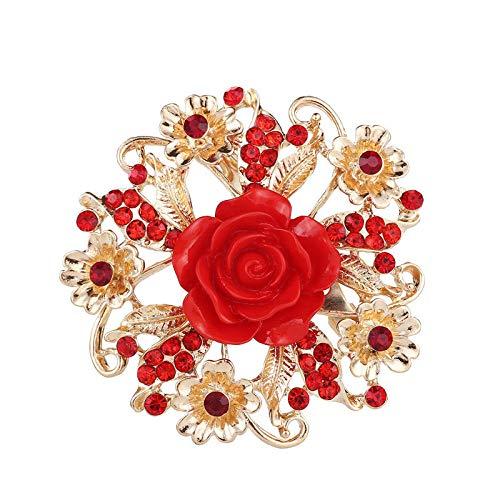 U/N Flor Color de Rosa Broche de Diamantes Boda Ramillete Nupcial Zapatos...