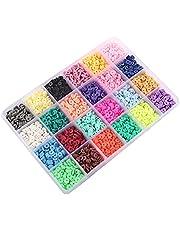 Rocailles Set Kleine Ponykralen DIY Kralen Glas Rocailles Multicolor Assortiment Opake Kleuren Voor Sieraden Productie Naaien Borduurwerk Handwerk 24 kleuren, Box Grootte: 19x13x2.2cm