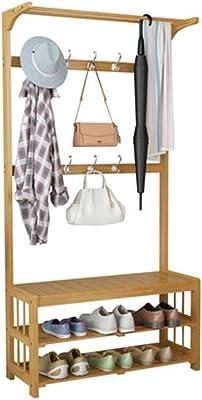 Haobase Coat Rack Shoe Bench Storage Shelf Clothes Rack with Shoe Rack
