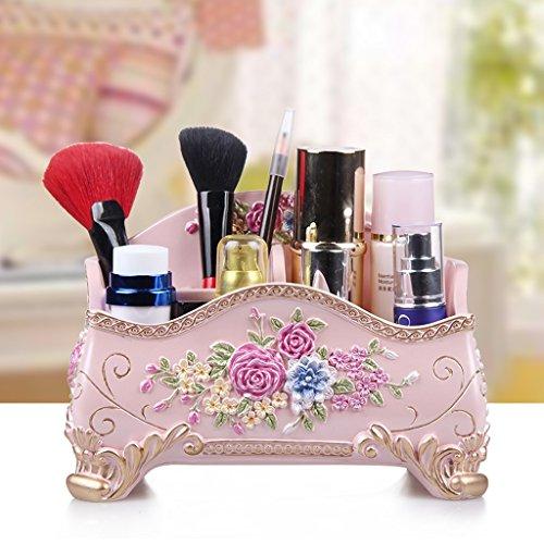 YNLRY Caja de cosméticos, caja de almacenamiento de joyas, caja de almacenamiento personalizada para el cuidado de la piel, gabinete de moda, tubo de cepillo de belleza