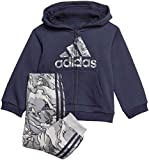 adidas I Logo FZ HD FL Tracksuit, Unisex niños, Top:Legend Ink/Grey Three f17 Bottom:Grey Three f17/Black, 2-3Y