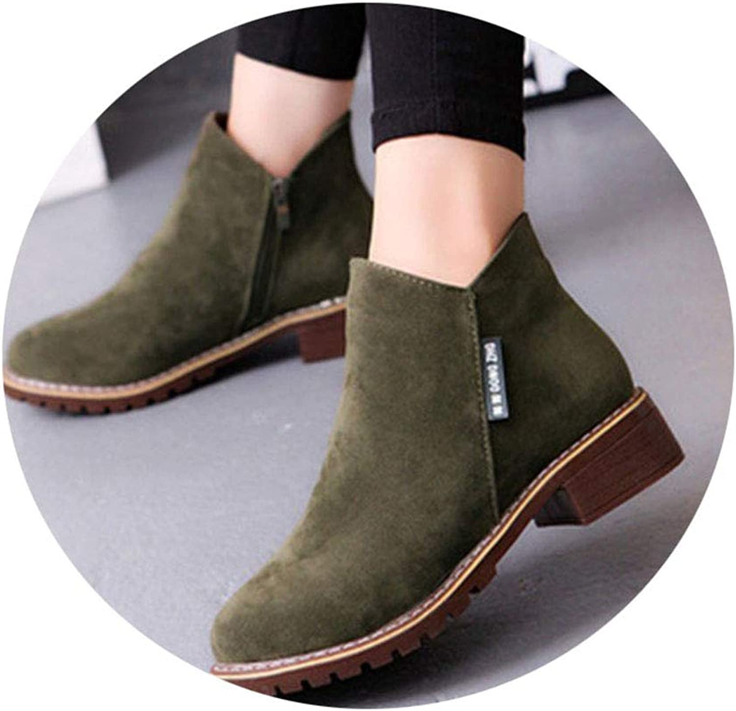 Friedman 2018 Autumn Handmade Genuine Leather Flat Boots Retro Martin Boots Side Zipper Leisure Fashion Ankle Boots,3 colors NO.73