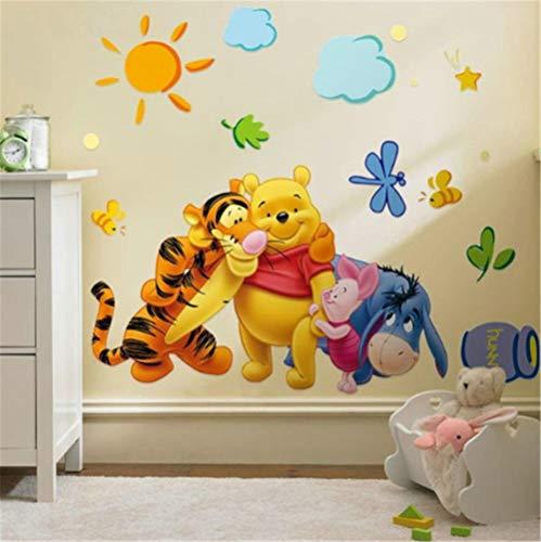 BKLKBL Adesivi murali Winnie The Pooh Amici per camerette zooyoo2006 Adesivo Decorativo Adesivo de Parede Adesivo Removibile in PVC