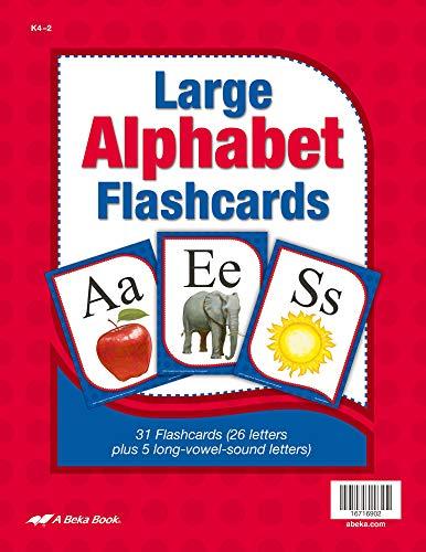 Large Alphabet Flashcards - Abeka Kindergarten 1st and 2nd Grade 1, 2 Letter Recognition Reading Program Large Letter Cards
