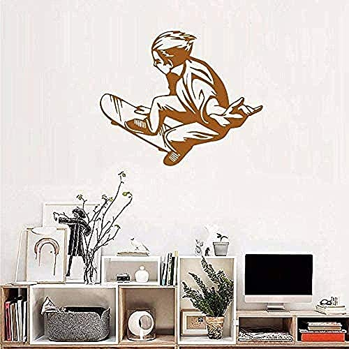 Pegatinas de pared para habitación de los niños, sala de estar, dormitorio, pegatinas, nueva patineta, calcomanías de azulejos para adolescentes, mural impermeable, habitación para niños, 51 * 42 cm