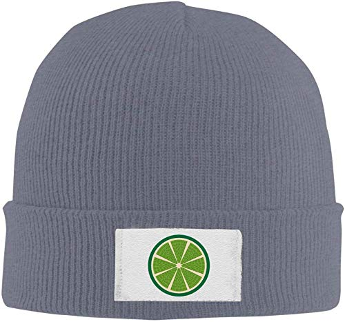 Quakess HR Lemon Fresh Fruit Elastic Strickmütze Cap Winter warm Schädel-Hüte, DeepHeather, OneSize