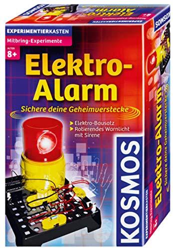KOSMOS 659172 - Elektro-Alarm, Sichere deine Geheimverstecke, Elektro-Bausatz, Blinkendes Warnlicht mit Sirene, Experimentierset für Kinder ab 8 Jahre