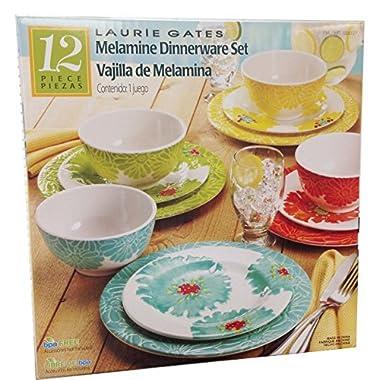 Laurie Gates - 12 Piece Melamine Dinnerware Set
