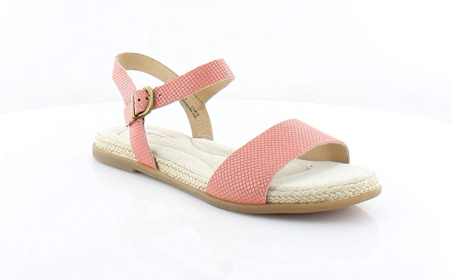 B.O.C. Womens Welch Leather Open Toe Casual Slingback Sandals, Pink, Size 7.0