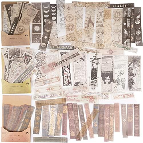 120pcs Pegatinas Adhesivas Material Washi Scrapbooking Estilo Vintage Pegatina Decorativa Papel Escrito...