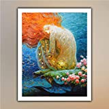 victor nizovtsev Fantasy Vintage Mermaid Pittura A Olio prints on canvas Modern Artwork Abstract Landscape Pictures Printed on Canvas Wall Art for Bedroom Home Office Decorations