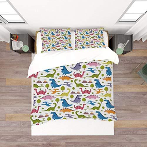 Küche Haushalt DEWUFAFA Anime-Bettwäsche-Set Hatsune Miku 3-teiliges Duvet-Set 3D-gedrucktes Duvet-Bettbezug-Set, mittleres Doppelbett (Color : Style02, Size : Double:79'x79')
