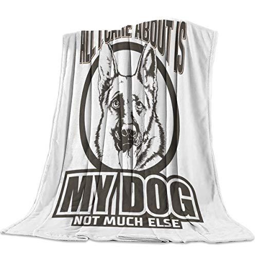 Infinidesign Super Soft Sheepdog Throw Blanket, Warm Cozy Lightweight Fleece Blanket for Bed Sofa Couch, Bedroom Living Room Blankets 40x50inch, Funny Animal Pet Dog Head Portrait