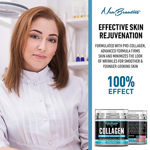 51Knn lWg7L - Collagen Cream - Organic Day and Night Cream - Made in USA - Anti Aging & Wrinkle Face Firming Cream - Face Moisturizer for Women & Men - Gentle Collagen Cream with Hyaluronic Acid & Retinol