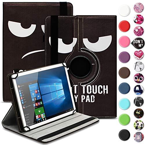 Nauci Tablet Hülle für Xido Z120 Z110 X111 X110 Tasche Schutzhülle Case Cover aus Kunstleder Standfunktion 360° Drehbar, Farben:Motiv 4