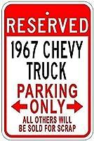 67 Chevy Truck Parking メタルポスター壁画ショップ看板ショップ看板表示板金属板ブリキ看板情報防水装飾レストラン日本食料品店カフェ旅行用品誕生日新年クリスマスパーティーギフト