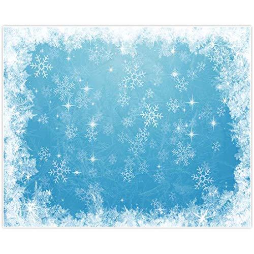 Allenjoy - Fondo para fotografía de estudio, 11.5 x 7.5ft, color azul hielo, para decoración de la fiesta de cumpleaños, para fiestas de cumpleaños, festivales de copos de nieve, nieve, fondo de Navidad, baby shower Photo Booth