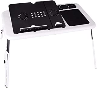Portable Laptop Stand USB Folding Laptop Table Bed Laptop Table PC Suporte Notebook Stand with 2 Cooling Fans and Mouse Pad
