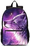 Mochila Escolar Galaxy 3D Wolf Se Adapta A Niños Adolescentes Regalos Resistentes Hombres Y Mujeres Bolsa De Viaje Laptop Business School Daypack