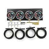 QIUXIANG 2pcs / 4 Piezas de la Motocicleta carburador VACUOMETRO del balanceador Herramienta sincronizador W Kit de la Manguera/Fit for Honda/Yamaha/Suzuki/Harley (Color : 4Pcs Black)