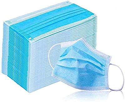 Disposable 50 PCS Filter 3-ply Face Mask Personal Protection Dust-Proof Anti Spittle Eye Mask for Earloop