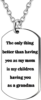 JJIA Mom Gifts Grandma Gifts Necklace for Mother Grandmother Thanksgiving Day Birthday