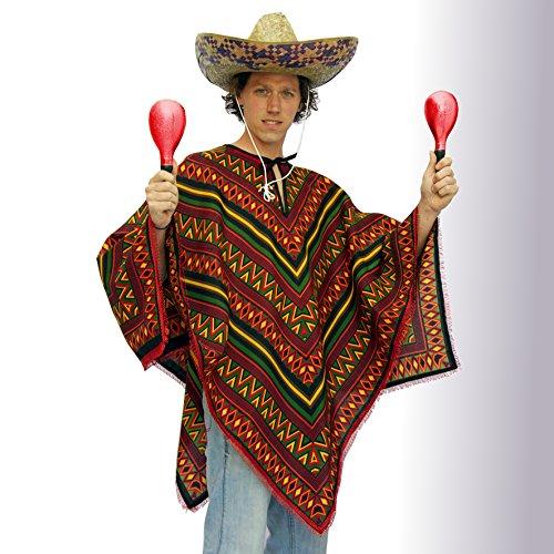 tnt-shop-de Mexikaner Kostüm - Poncho - Mexiko - Damen Herren Universalgrösse