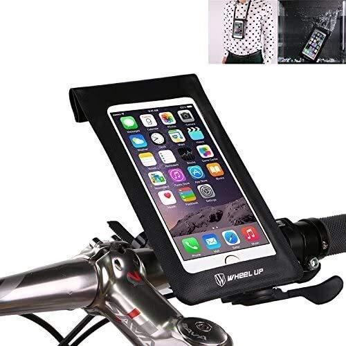 Bolsa para manillar de bicicleta, soporte para teléfono de bicicleta, funda para teléfono universal, resistente al agua,bolsa seca para iPhone XS MAX XR X 8 7 Plus smartphones de hasta 6 pulgadas