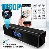 Hidden Camera WiFi Adapter 1080P Spy Camera Clock with Night Vision Spy Camera Mini with Motion...