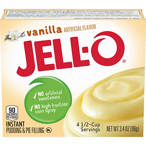 Jell-O Instant Vanilla Pudding & Pie Filling (3.4 oz Boxes, Pack of 24)