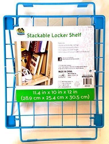 Stackable Large special price !! Locker Shelf Aqua Max 45% OFF Blue