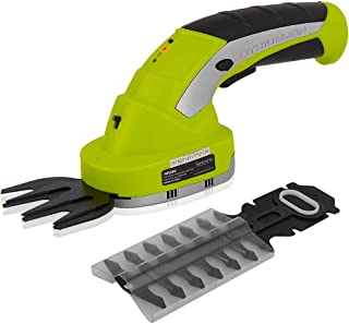 SereneLife PSLTLL1812 Cordless Handheld Shears-Electrical Hand Held Hedge Trimmer Weed Or Grass Clippers with 3.6V Rechargeable Battery, Metal Blades, for Lawn Yd Gardening Use, Yellow